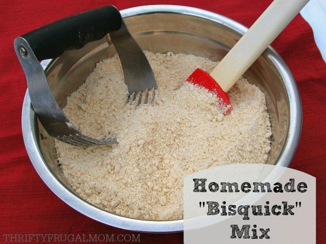 """Homemade """"Bisquick"""" Mix- healthier and literally takes minutes to mix up!"""