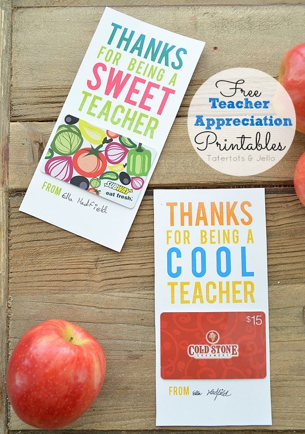 Cheap Teacher Gift Ideas