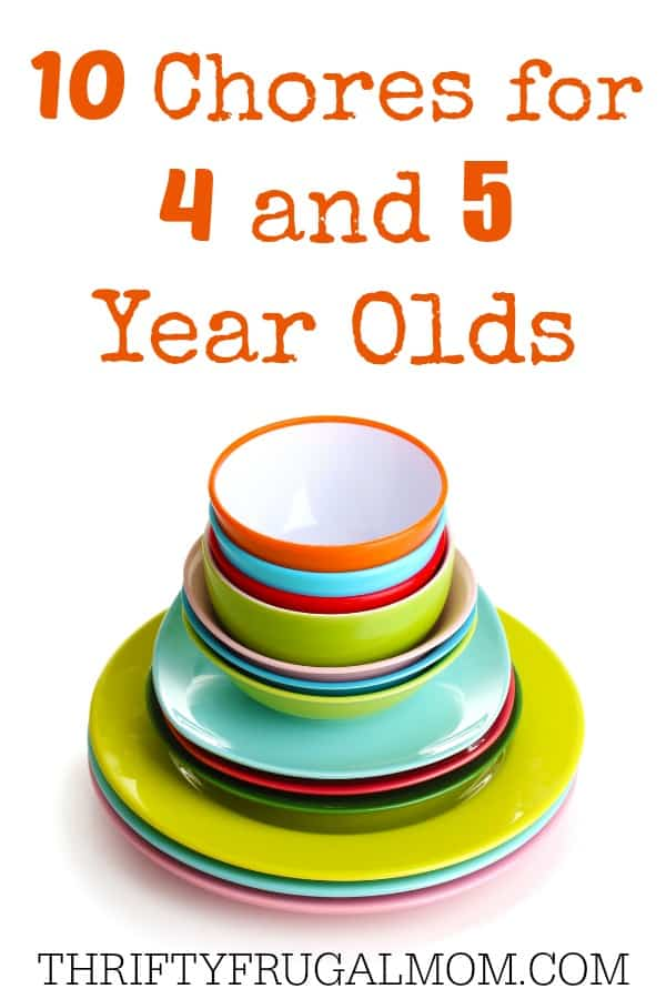 Chores for 4 & 5 Year Olds