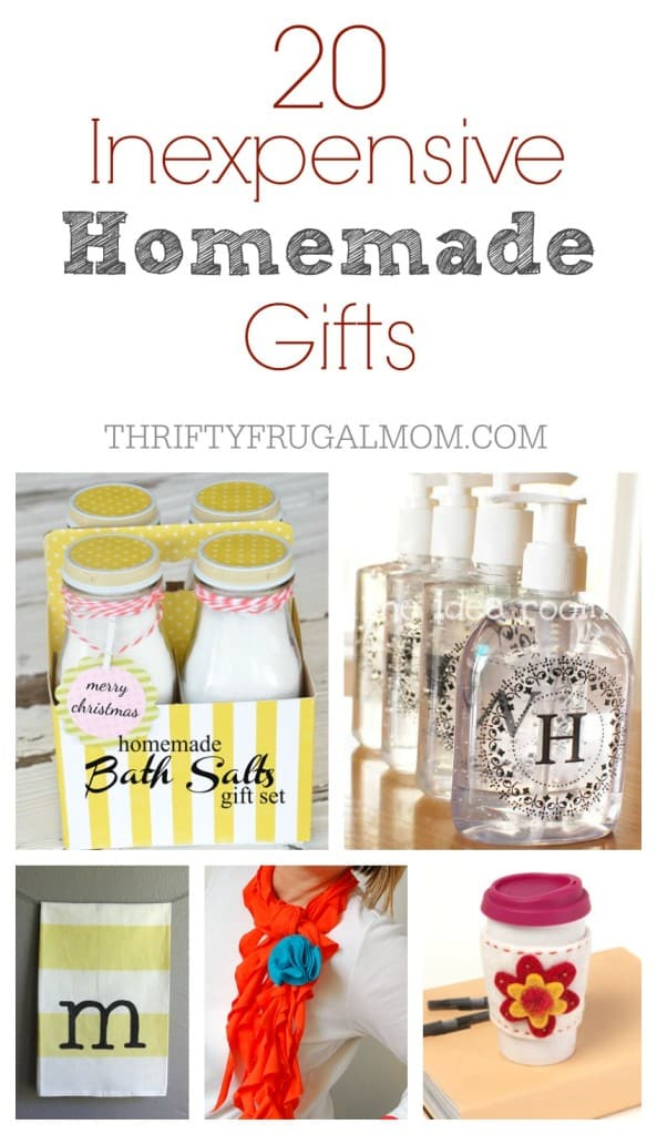 Inexpensive Easy Homemade Gifts