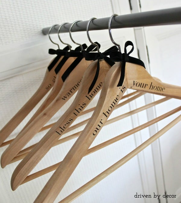Inexpensive Easy Homemade Gifts- hangers