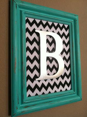 Inexpensive Easy Homemade Gifts- monogram wall art