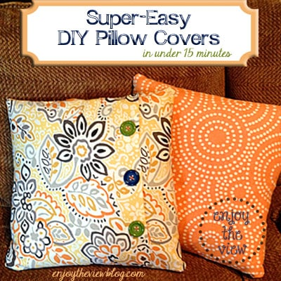 Inexpensive Easy Homemade Gifts- pillows