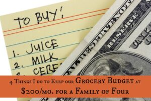 Our $200 Grocery Budget: 4 Ways Our Family of 4 Saves