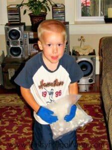 Boy Mixing Ice Cream