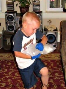 Boy Shaking Ice Cream