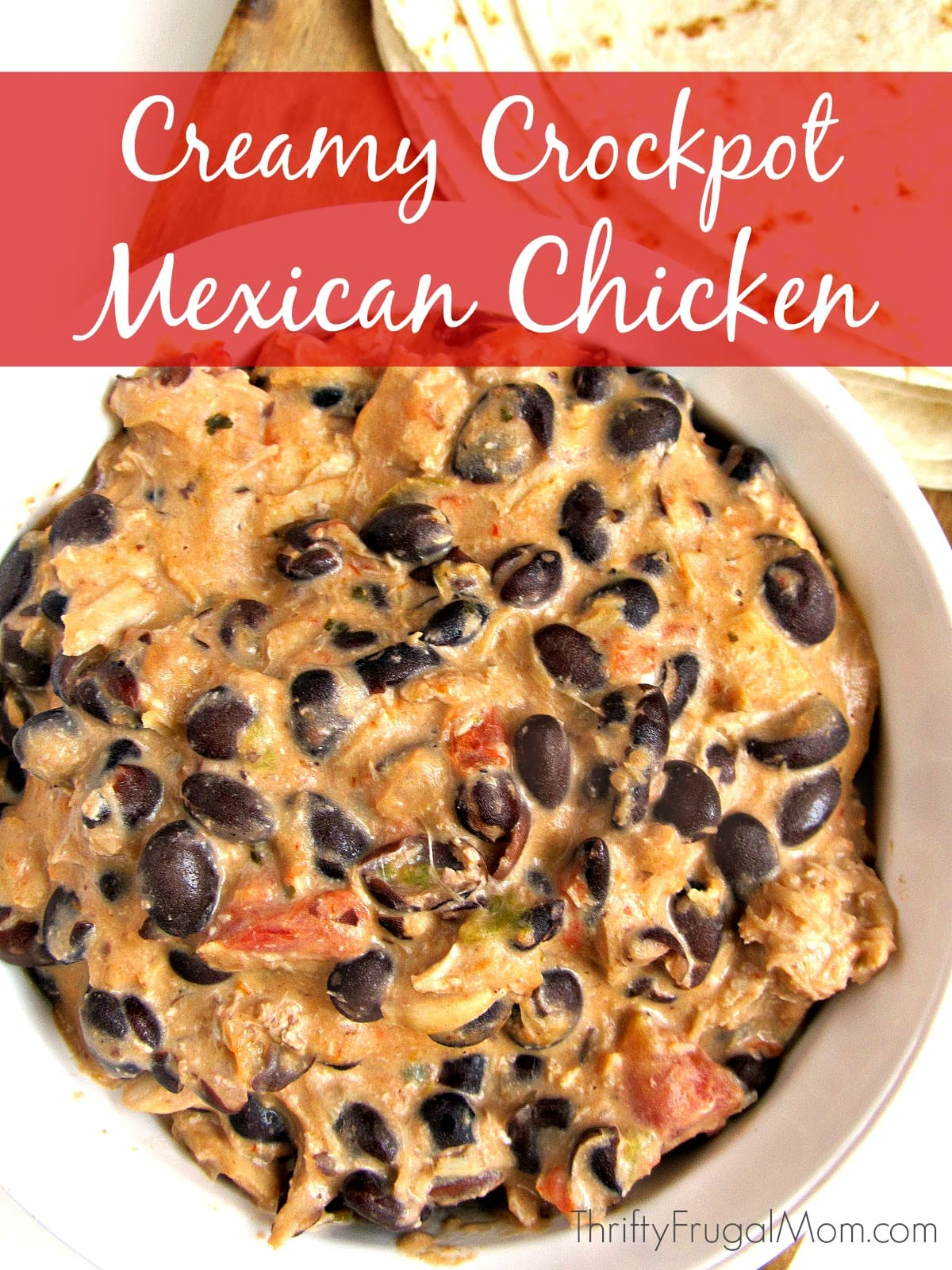 Creamy crockpot mexican chicken this easy crockpot chicken recipe is one of the simplest recipes you forumfinder Choice Image