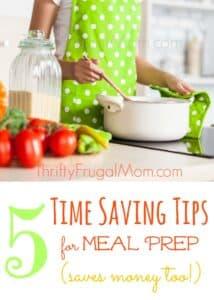 Tips Save Time on Meal Prep