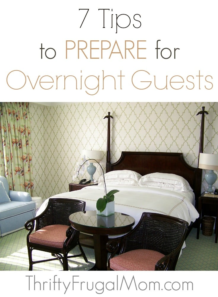 Tips to Get Ready for Overnight Guests