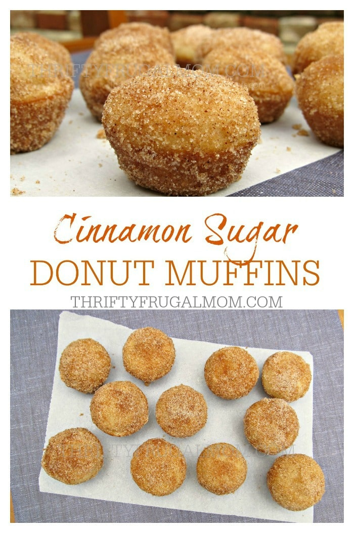 Healthier than a donut, these Cinnamon Sugar Donut Muffins are just as ...