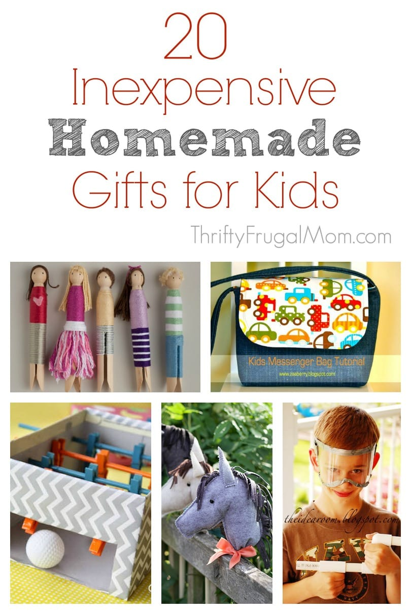 20 Inexpensive Homemade Gift Ideas For Kids
