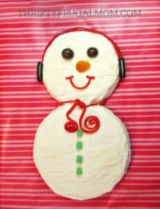 Easy Snowman Cake