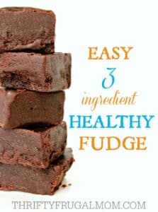 Easy 3 Ingredient Healthy Fudge