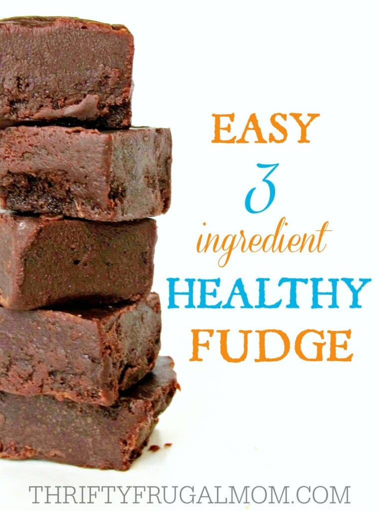 Healthy Fudge 3 ingredient