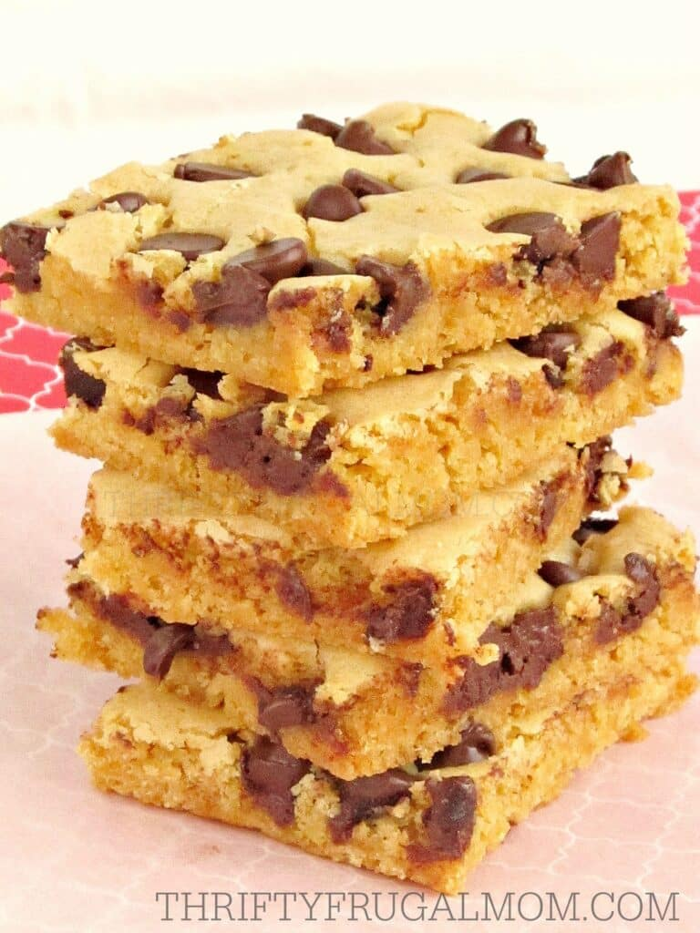 Chewy Blonde Brownies Chocolate Chips