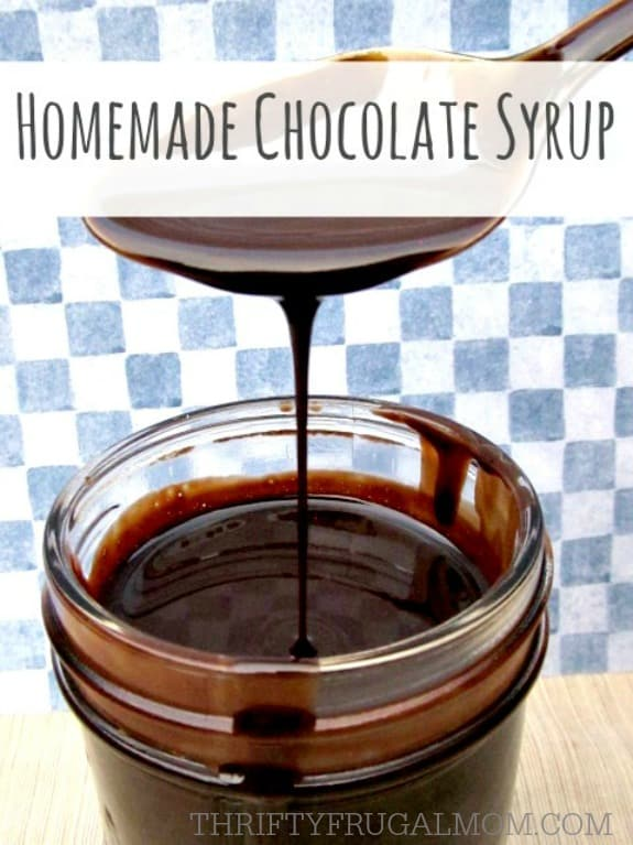 Healthier than the store bought version, this Homemade Chocolate Syrup recipe is inexpensive, super simple to make and so delicious! It's perfect for chocolate milk or as an ice cream topping.