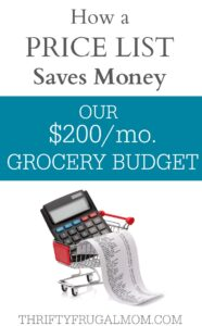 How a Price List Saves Money