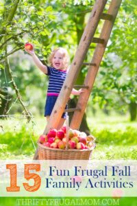 Frugal Fall Family Activities Printable