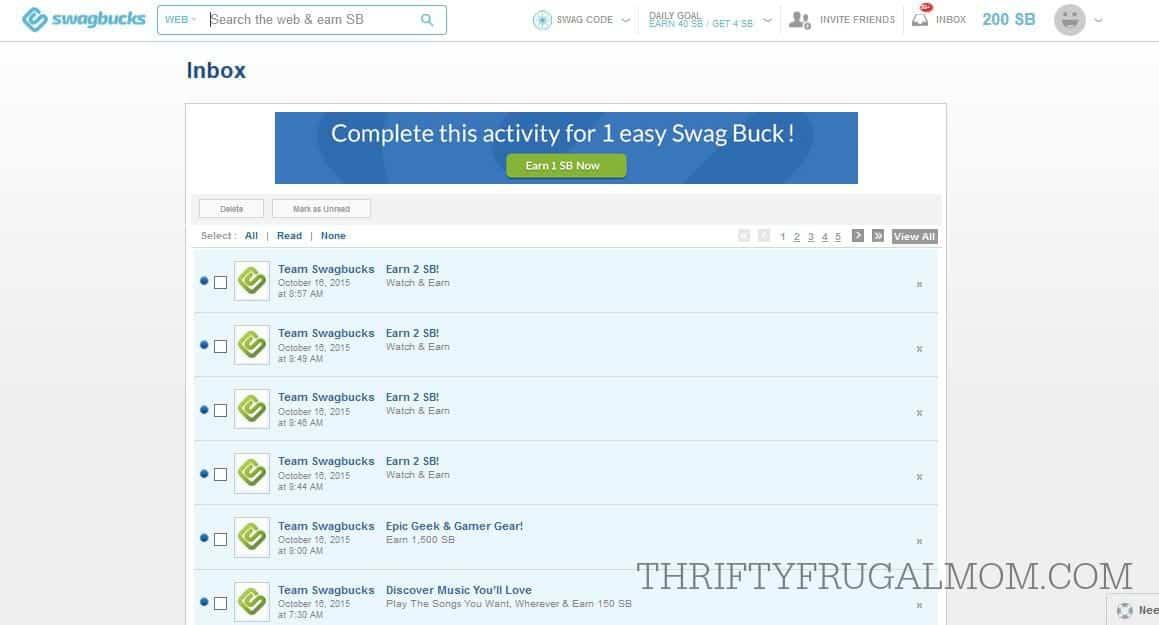 Check your inbox at least 60 swagbucks 2 swagbucks daily x 30 days