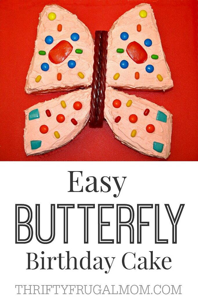 Easy Butterfly Birthday Cake- simple and cute- perfect for a girl's birthday cake