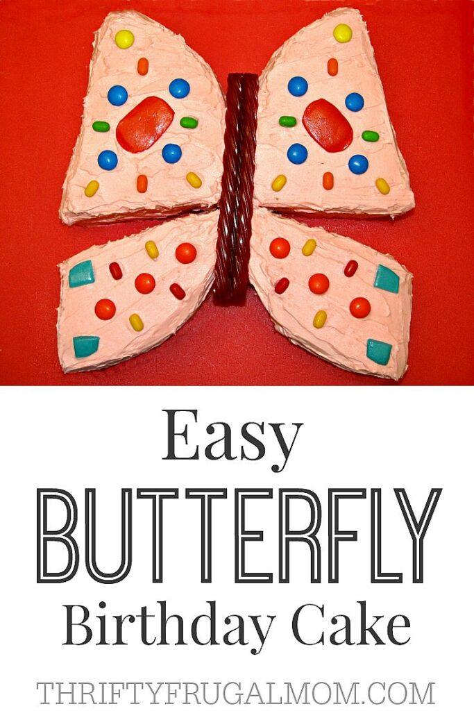 Easy Butterfly Birthday Cake