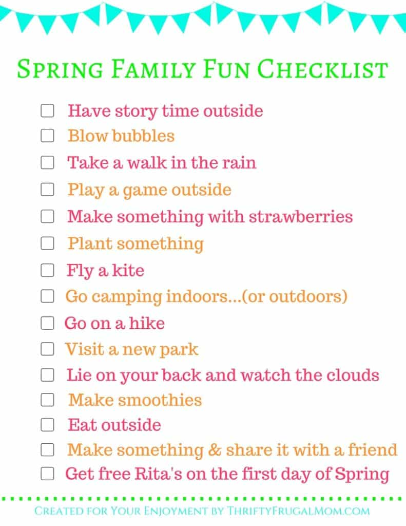 Spring Family Fun Checklist