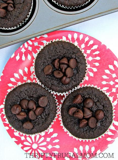 Flourless Chocolate Muffins plate clear