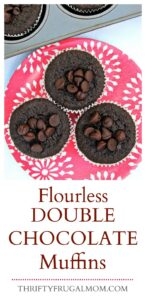 Flourless Double Chocolate Muffins