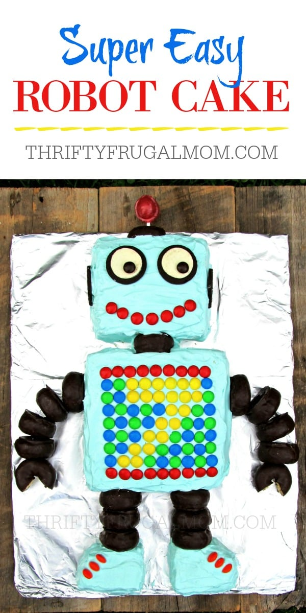 Easy Robot Boy Birthday Cake