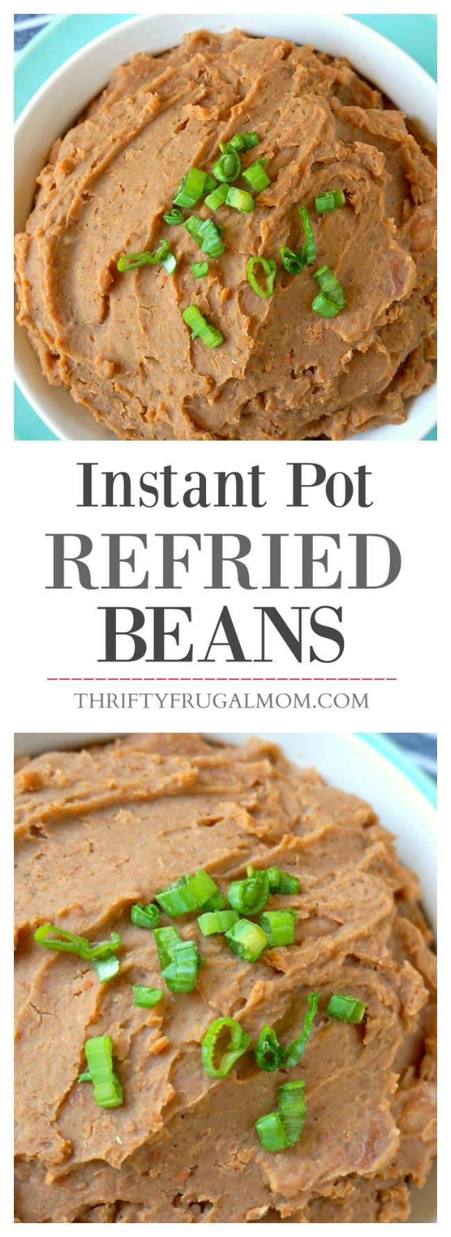 Easily make homemade refried beans in your Instant Pot! Takes just 30 minutes to cook. Includes Crockpot version too. Cheap, easy and delicious!