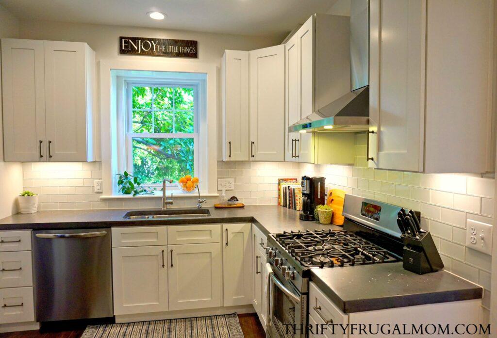 Gray and White Classic Kitchen
