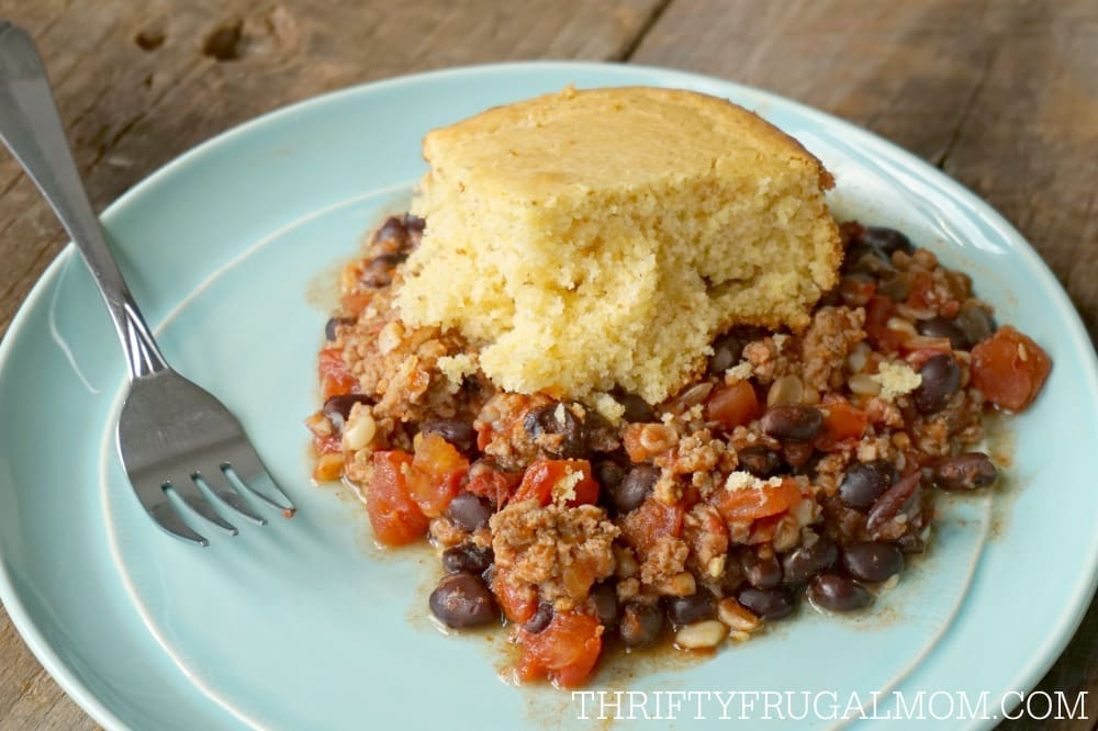 Crockpot Tamale Pie- love frugal meals like this!