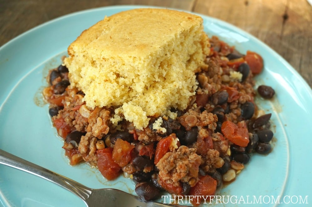 Crockpot Tamale Pie- a frugal meal idea
